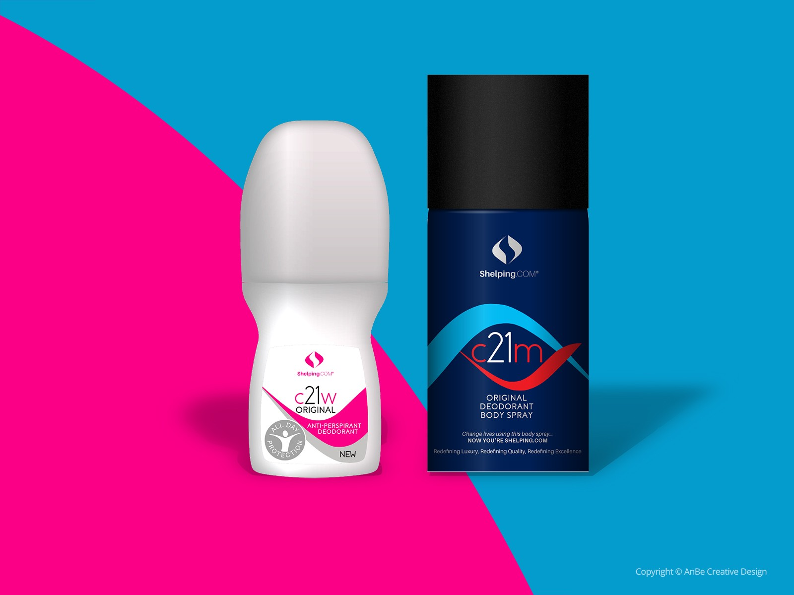 packaging designs for his and hers deodorant
