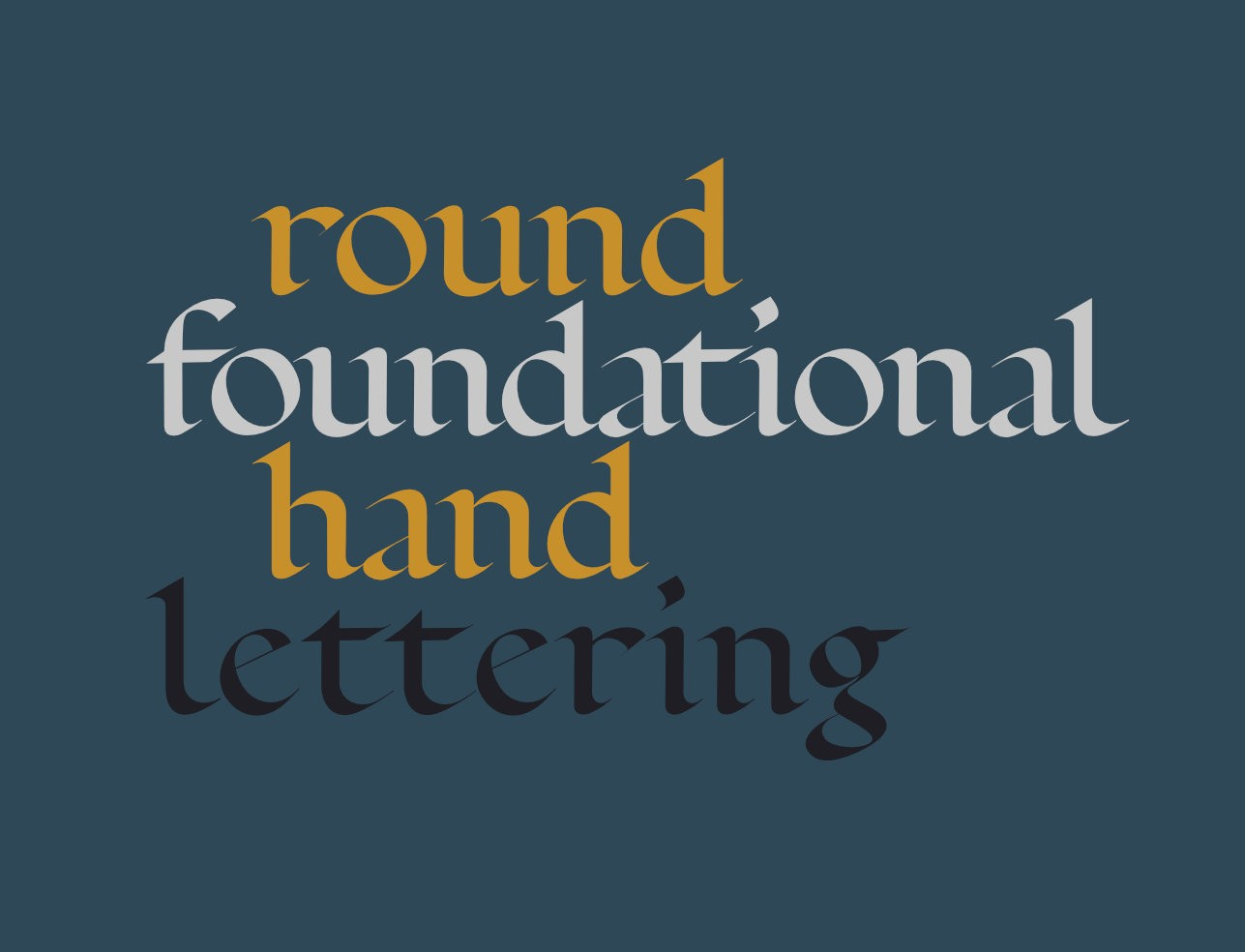 Round foundational hand lettering: a typeface