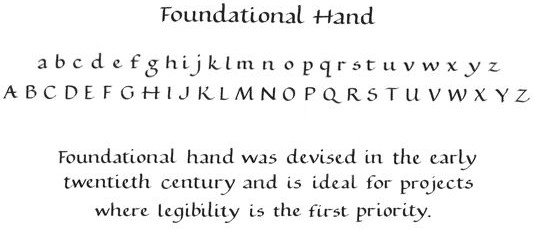 foundation hand lettering