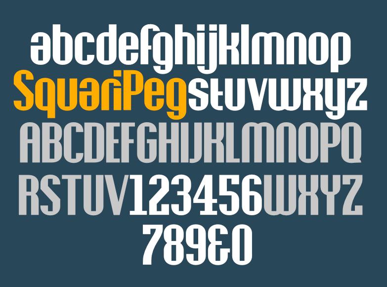 SquariPeg alphabet